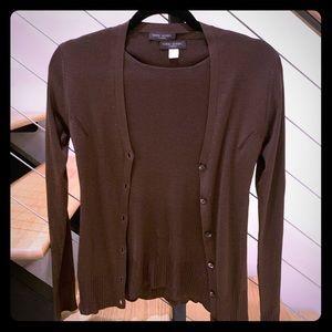 Henri Bendel 2 piece silk sweater set